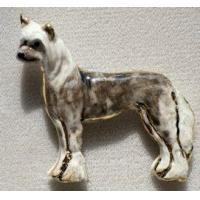China Chinese Crested Ceramic Dog Pin wholesale