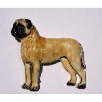 China Bullmastiff Ceramic Dog Pin wholesale