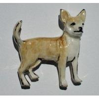 China Chihuahua - Smooth Hair Ceramic Dog Pins wholesale