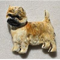 China Cairn Terrier Ceramic Dog Pin wholesale