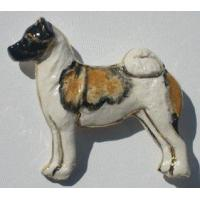 China Akita Ceramic Dog Pins wholesale