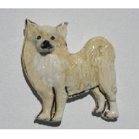 Chihuahua - Long Hair Ceramic Dog Pin