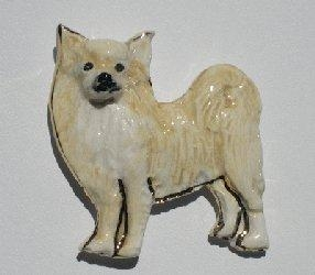 Quality Chihuahua - Long Hair Ceramic Dog Pin for sale