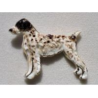 China German Wirehaired Pointer Ceramic Dog Pin wholesale