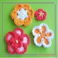 China PATTERN  A Set of Crocheted Flower AppliqueFlower 43 wholesale
