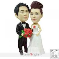 China Custom Wedding Cake Topper - Proposing To Bride CWCT0048 on sale