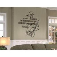Buy cheap Life Is Not Measured Quote Wall Decal from wholesalers