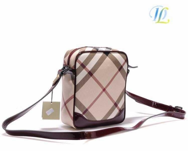 Burberry Beige and Brown Medium Haymarket Check Bowler Bag - Sale