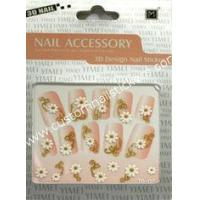 Buy cheap Portable Easy Removable Black Full French Nail Stickers With Geometrical Pattern from wholesalers