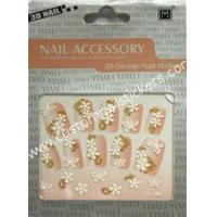 Buy cheap Custom 70*104mm Easy Removable Prink Pretty French Nail Art Stickers At Home from wholesalers