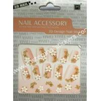 Buy cheap Black Artificial French Stickers With Geometrical Pattern For Nail Art from wholesalers