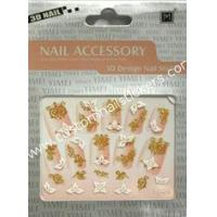Buy cheap OEM Prink Nontoxic Ink Flower Sharp Pretty Art French Nail Stickers With No Smelly from wholesalers