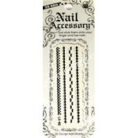 China Eco - friendly Nontoxic ink beauty eternal water decals nail art lace nail stickers design wholesale