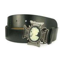 China Non-leather Plain Belt with Cross Buckle on sale