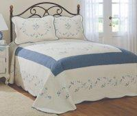 China Forgetting Me Not Queen Bedspread wholesale