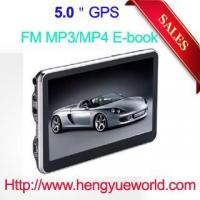 China 5' gps navigation HD touch screen 128M DDR 4GB memory with free map FM Transmitter wholesale