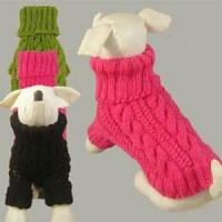 China Acrylic apparels for pet, doggie knited sweater wholesale