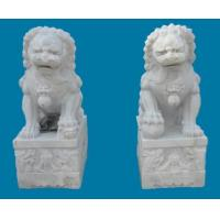 China White Marble Lion Sculpture wholesale