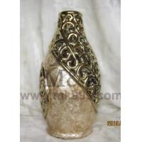 China shell vase and electroplate pottery shell electroplate vase wholesale