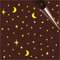 China Chocolate transfer paper Star & Moon chocolate transfer paper on sale