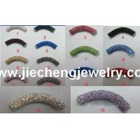 China JF2033 Clay Crystal Pave Spacer Bar wholesale