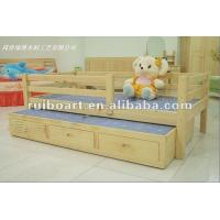 China Pine solid wooden children bed on sale