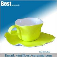 China Ceramic cup&saucer ceramic breakfast cup and saucer wholesale