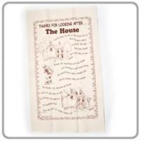 "China 'Thanks for Looking After... The House"" Tea Towel wholesale"