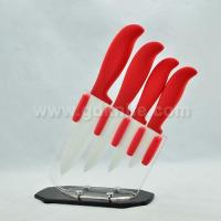 China high quality pp handle color ceramic knife set wholesale