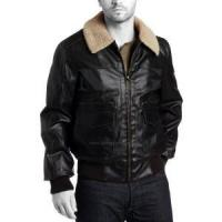 China Air force leather bomber jacket on sale