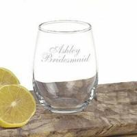 Personalized Stemless Wine Glassware -15 oz