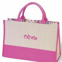 China Personalized Hot Pink Color Block Tote Bags wholesale