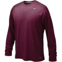 China Nike Maroon Legend Long Sleeve Performance Shirt wholesale