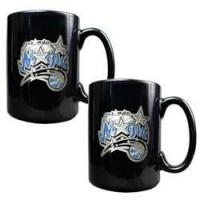 China Orlando Magic 2pc Black Ceramic Mug Set - Primary Logo wholesale
