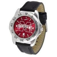 Mississippi State Bulldogs Sport AnoChrome Men's Watch with Leather Band