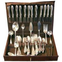 China x[SOLD] Lunt MOUNT VERNON 96 piece sterling flatware set wholesale