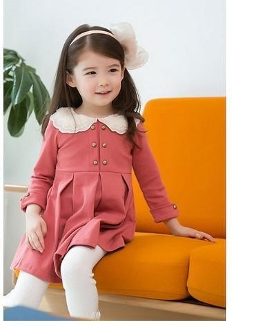 new fashion cute foreign trade baby girls princess dress pleate