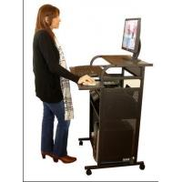 "Quality S2445-METAL 24"" All Metal Standing Computer Desk - Black for sale"