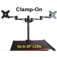 Quality DDL26CLB - Dual LCD Clamp-on Stand - VESA (Black) for sale