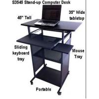 "Quality S3545 35""W Stand Up Writing and Computer Desk - Black for sale"