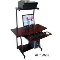 "Quality S40 40"" Computer Desk with Tower Printer Shelf for sale"