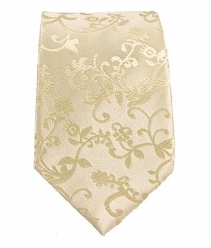 Quality Paul Malone SLIM TIE . 2.5' wide . 100% Silk . Ivory Vines for sale