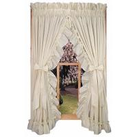 China Stephanie Solid Color Ruffled Priscilla Window Curtains with Bow Tie Backs on sale