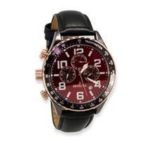China Left-Handed Terra Military Black Chrono Watch on sale