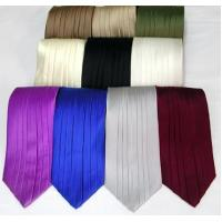 China Silk Pleated Tie - 8 Colors wholesale