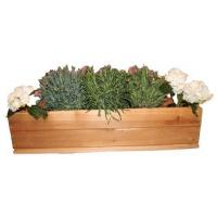 China Rectangular Wooden (Bamboo) Planter Box / Four-sectioned Tray on sale