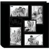 China Pioneer Collage Frame Embossed Family Sewn Leatherette Cover 240 Pocket Photo Album, Black wholesale