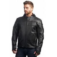 China Mens' Hooded Leather Jacket on sale