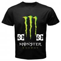 China DC Shoes Monster Energy Black T-Shirts wholesale