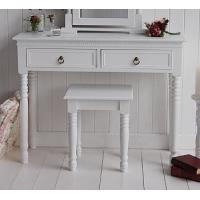 China White Dressing Table Stool on sale